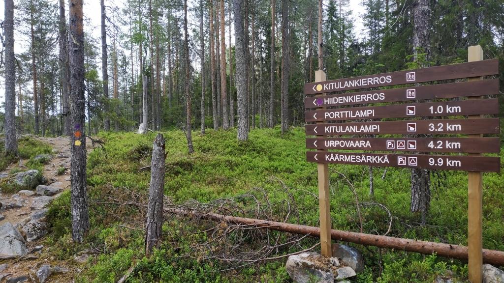 Ruta parque natural en Finlandia