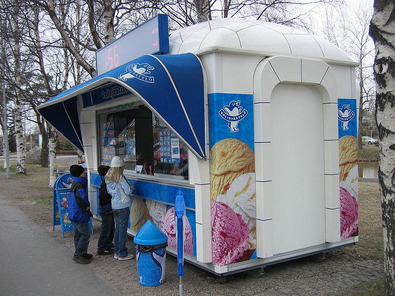 quiosco de helados en finlandia