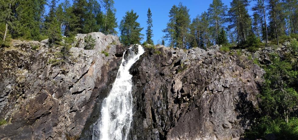 best waterfalls finland hepokongas