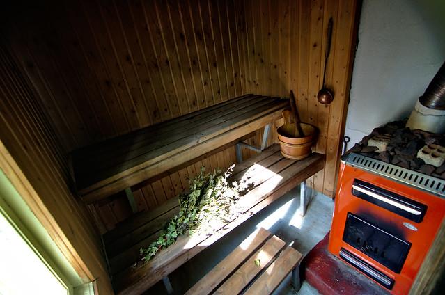 sauna finlandesa madera